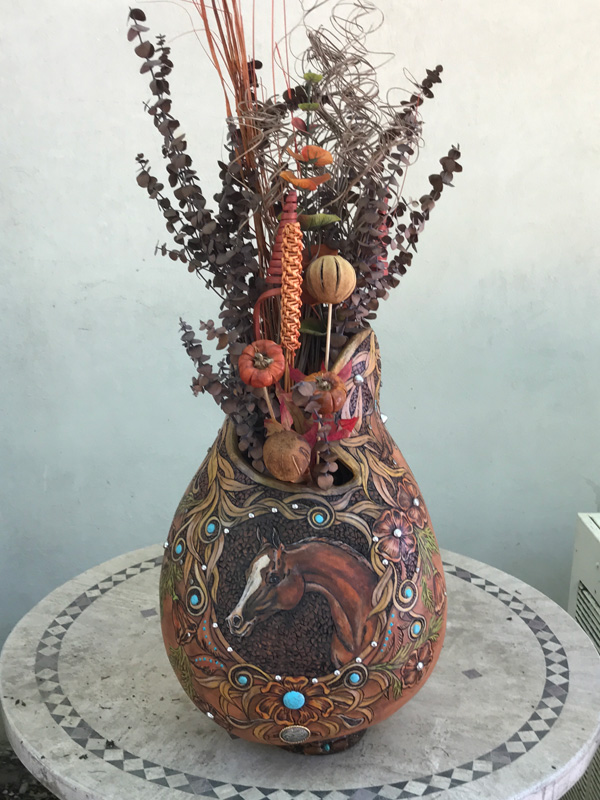 Gourd donated for Region 2 auction